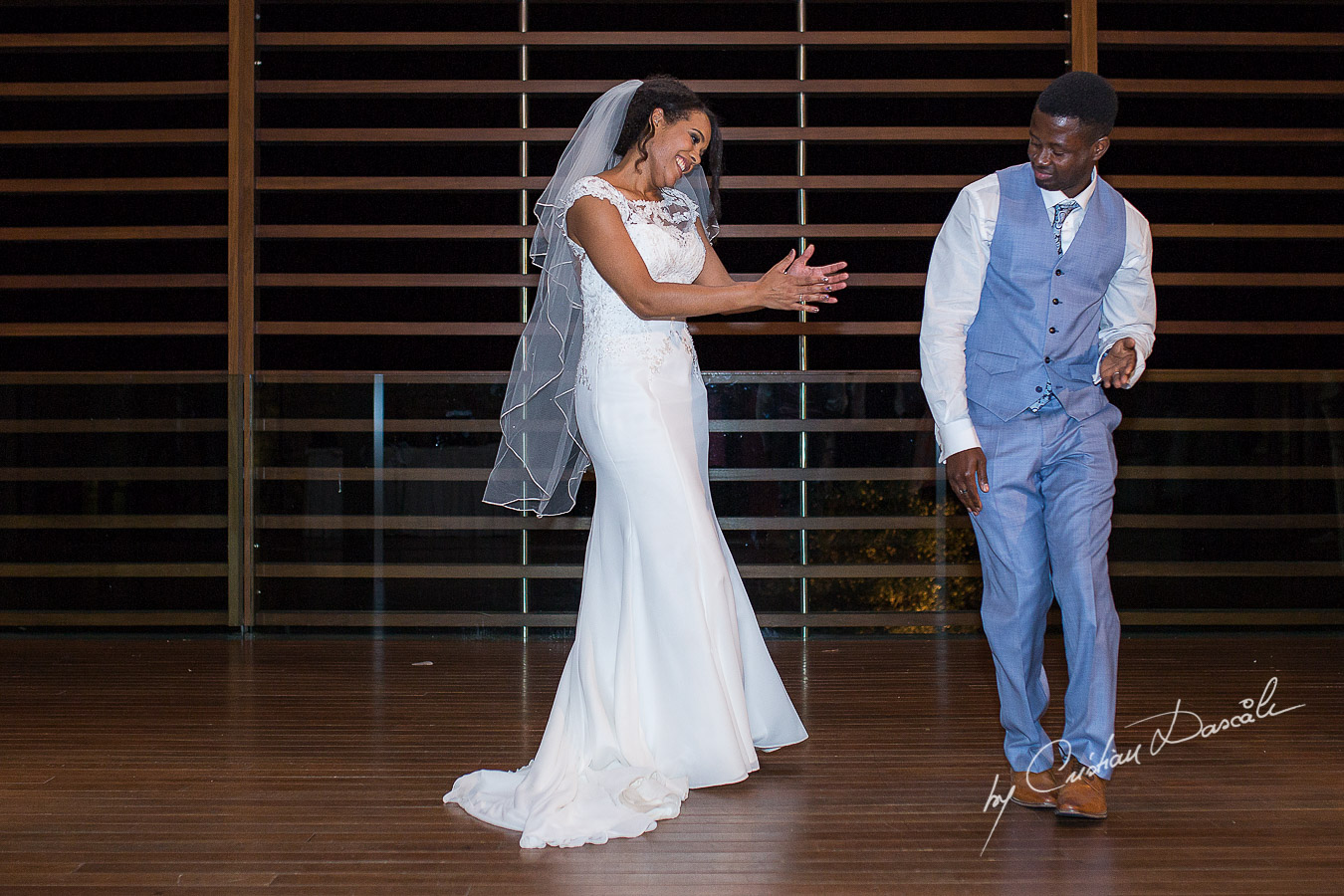 Bride and groom first dance moments captured at a wedding at Minthis Hills in Cyprus, by Cristian Dascalu.