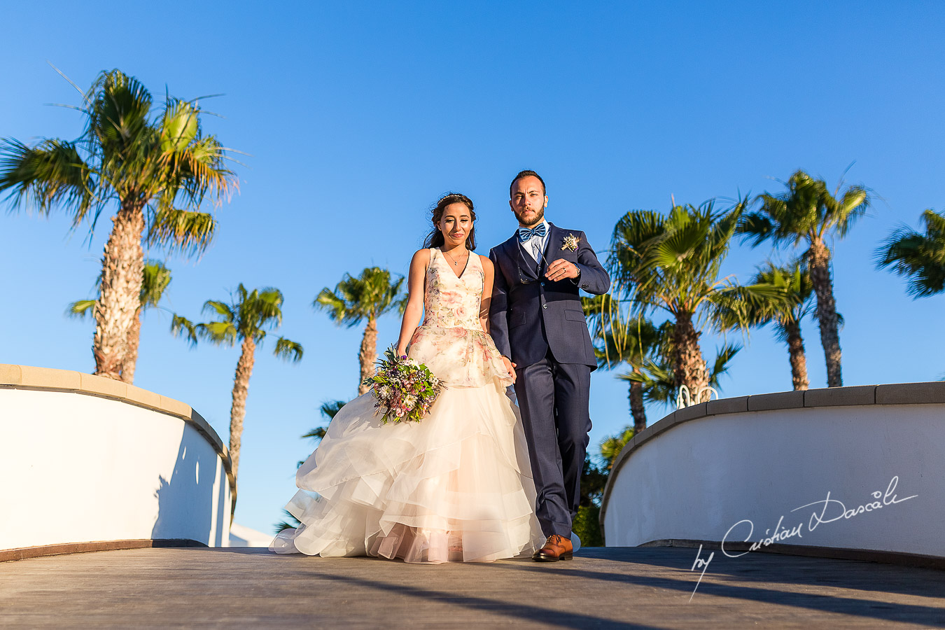 Genuine moments with the bride and groom immediately after the ceremony, as part of an Exclusive Wedding photography at Grand Resort Limassol, captured by Cyprus Wedding Photographer Cristian Dascalu.