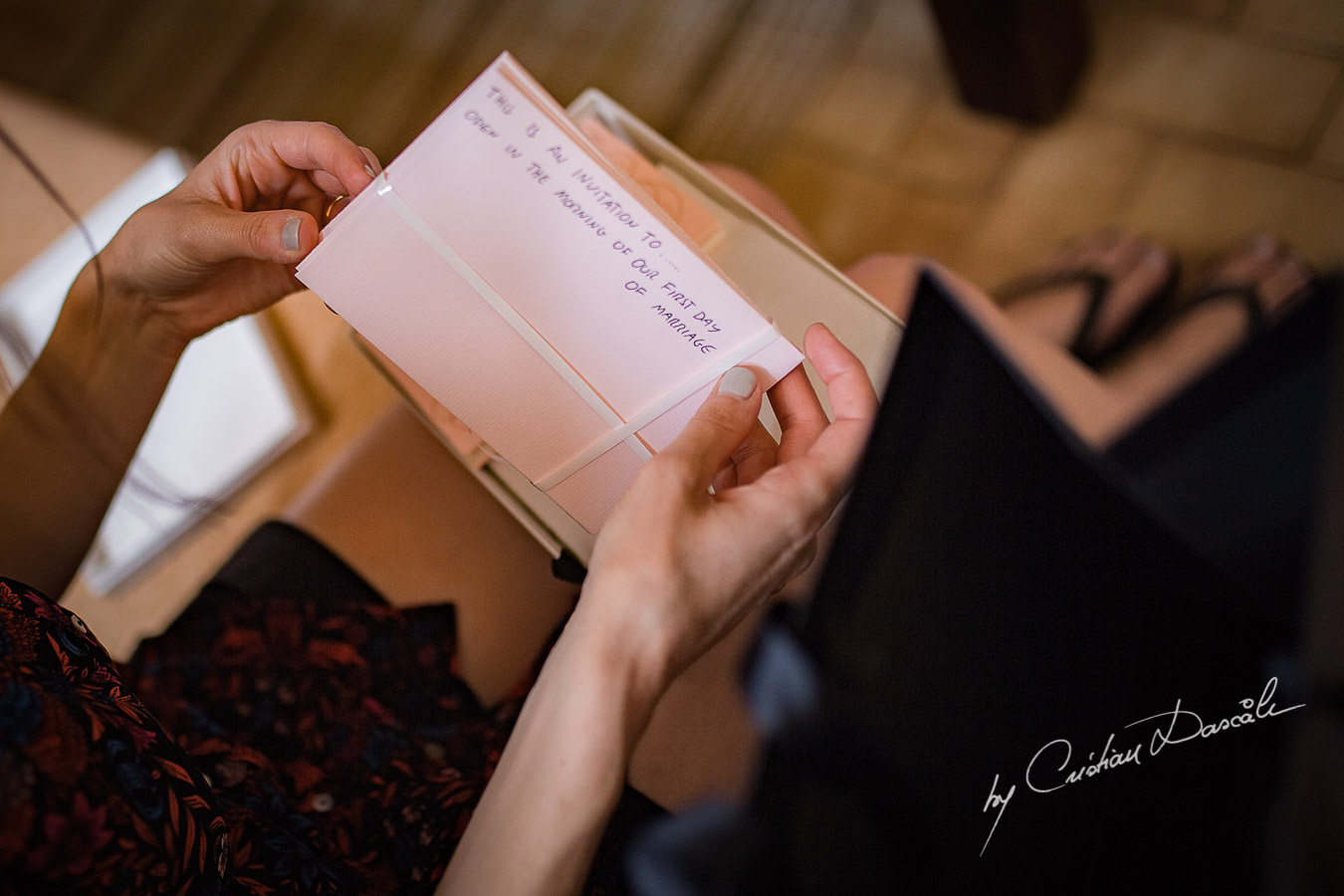 A beautiful wedding day at the Vasilias Nikoklis Inn in Paphos, captured by Cristian Dascalu. Letter from the groom to the bride.