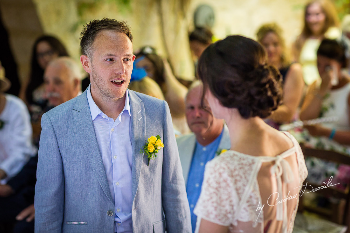 A beautiful wedding day at the Vasilias Nikoklis Inn in Paphos, captured by Cristian Dascalu. Ceremony moments.