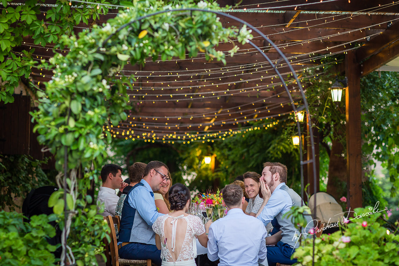 A beautiful wedding day at the Vasilias Nikoklis Inn in Paphos, captured by Cristian Dascalu. Dinner Moments.