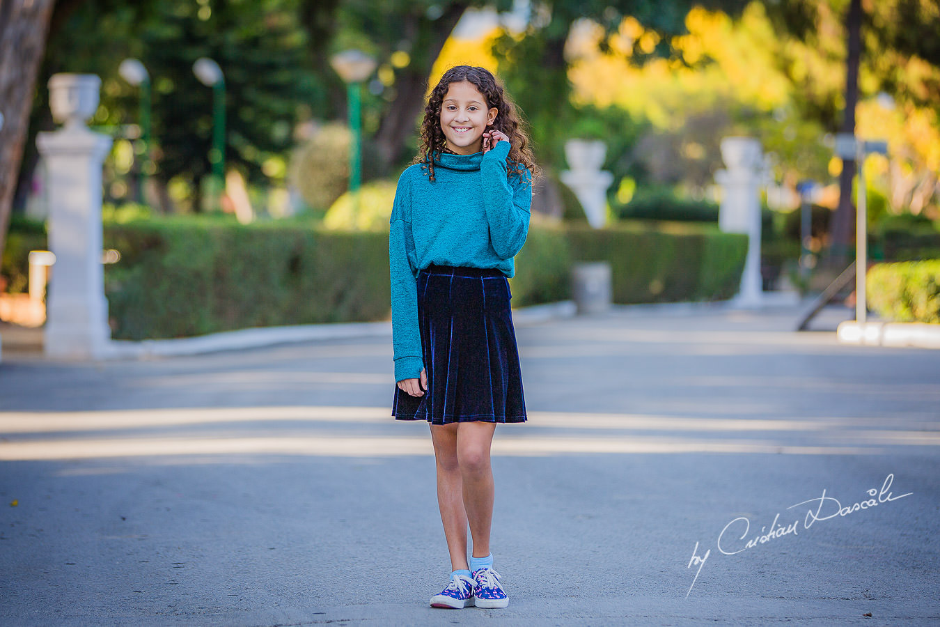 Beautiful young lady in the park, moments captured by Cristian Dascalu during a beautiful Limassol family photography photo session.
