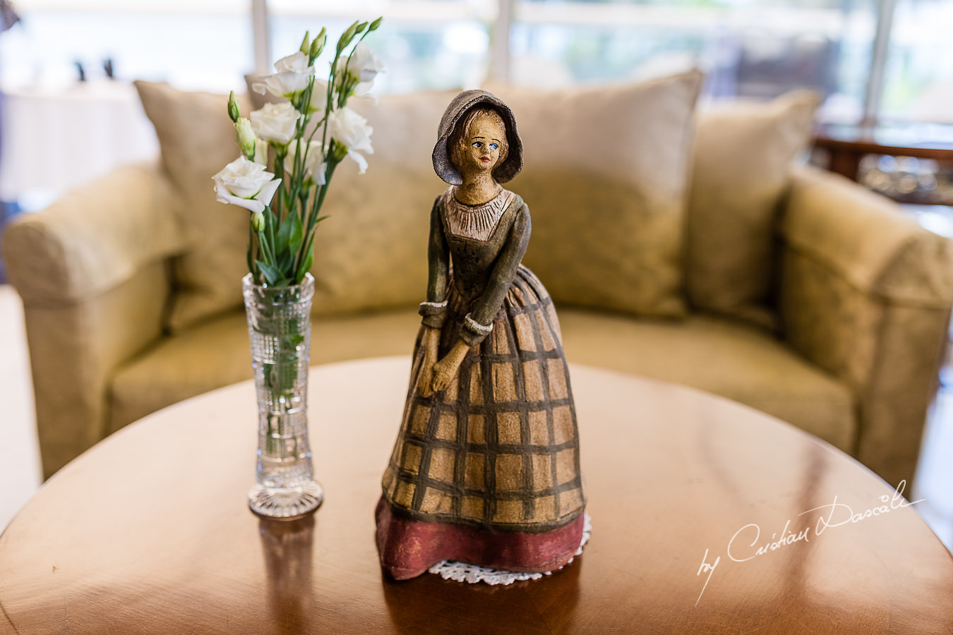 Beautiful statuette photographed by Cristian Dascalu during a wedding ceremony at St Raphael Hotel in Limassol, Cyprus.