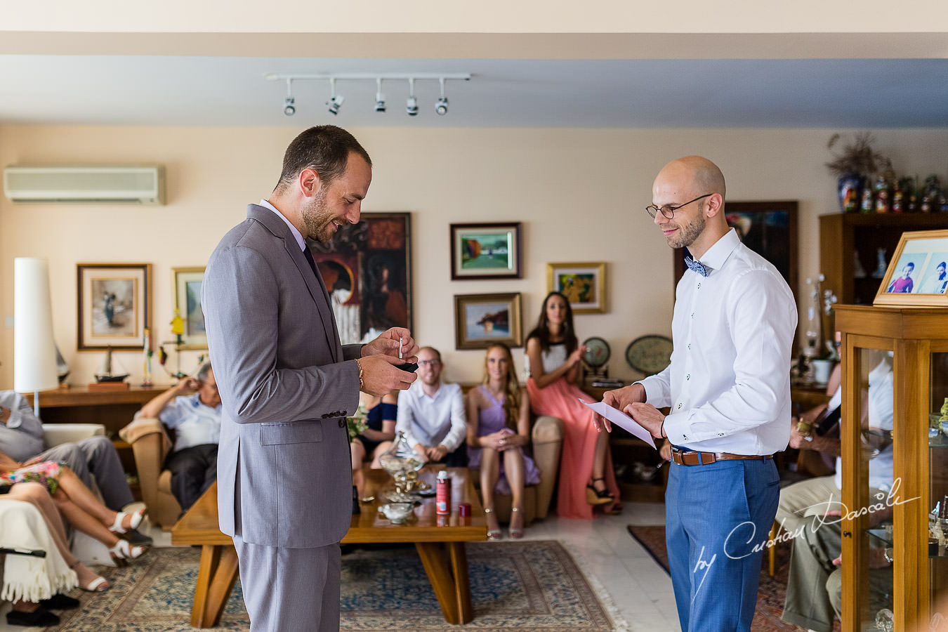 Groom's preparations captured by Cyprus Photographer Cristian Dascalu during a lovely wedding at St. Raphael Resort in Limassol, Cyprus.