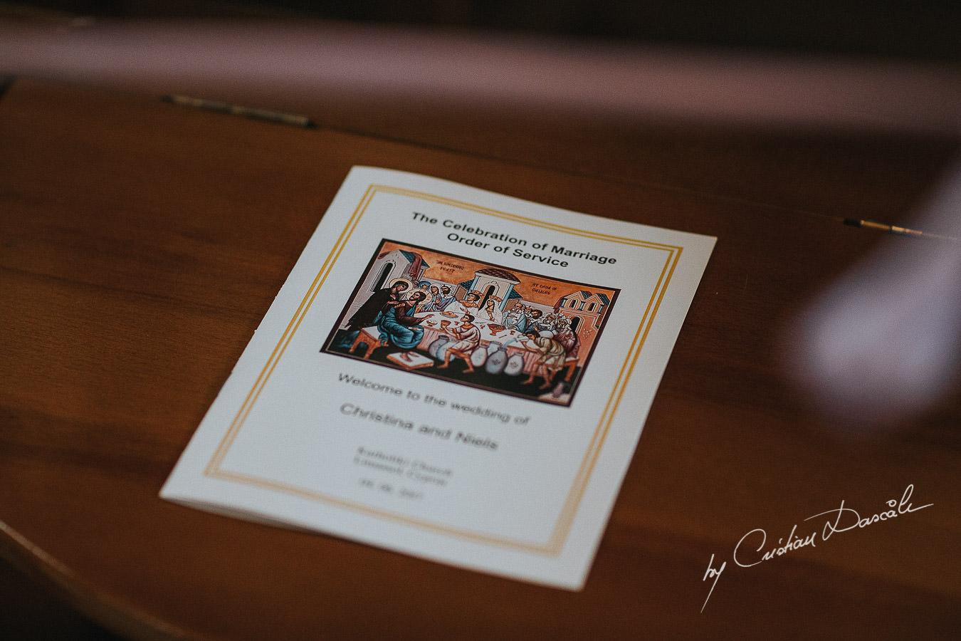 Wedding details captured at Catholiki Chuch in Limassol, Cyprus.