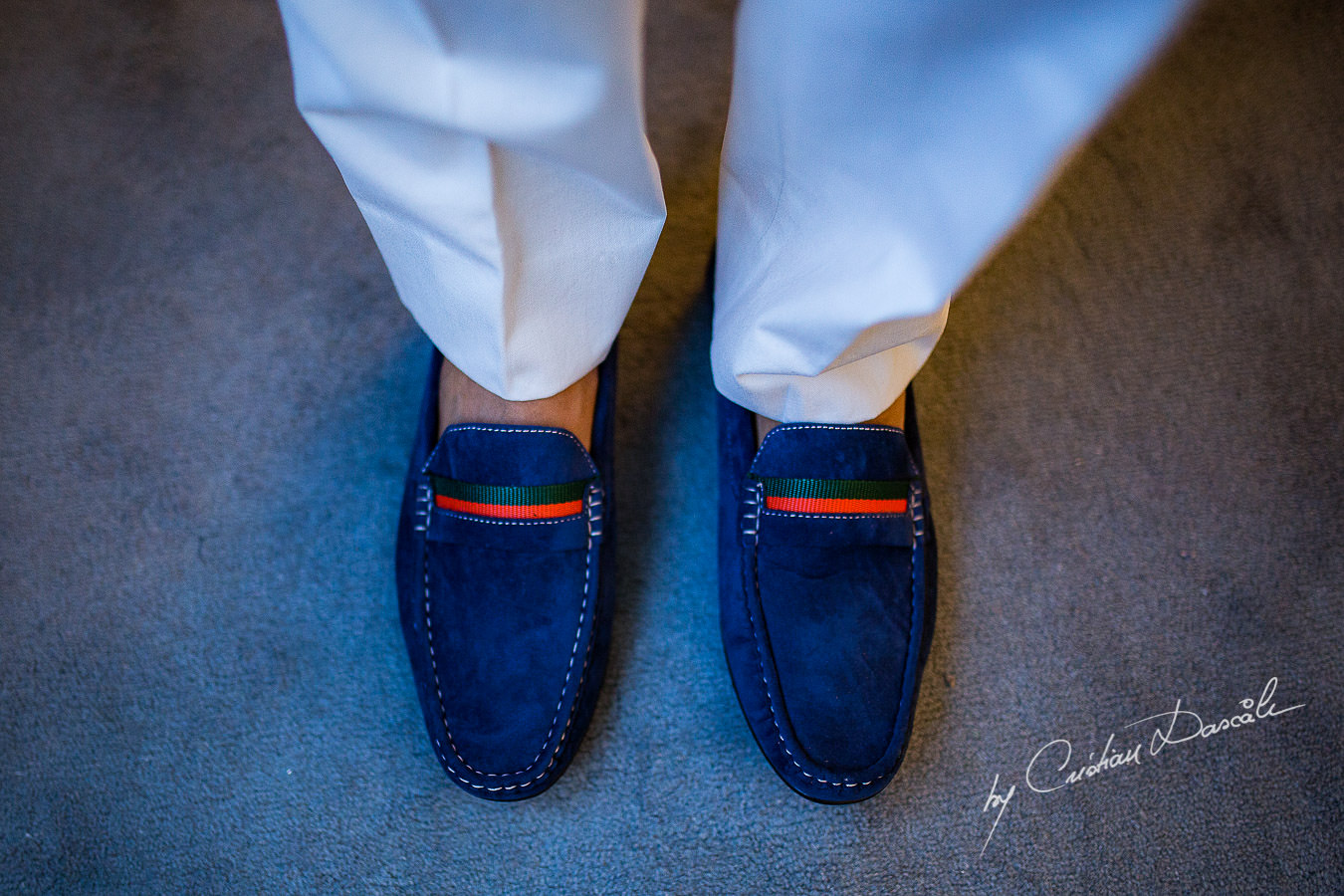 Groom's shoes captured during a wedding photography at the Lighthouse Limassol, by Cyprus Photographer Cristian Dascalu.