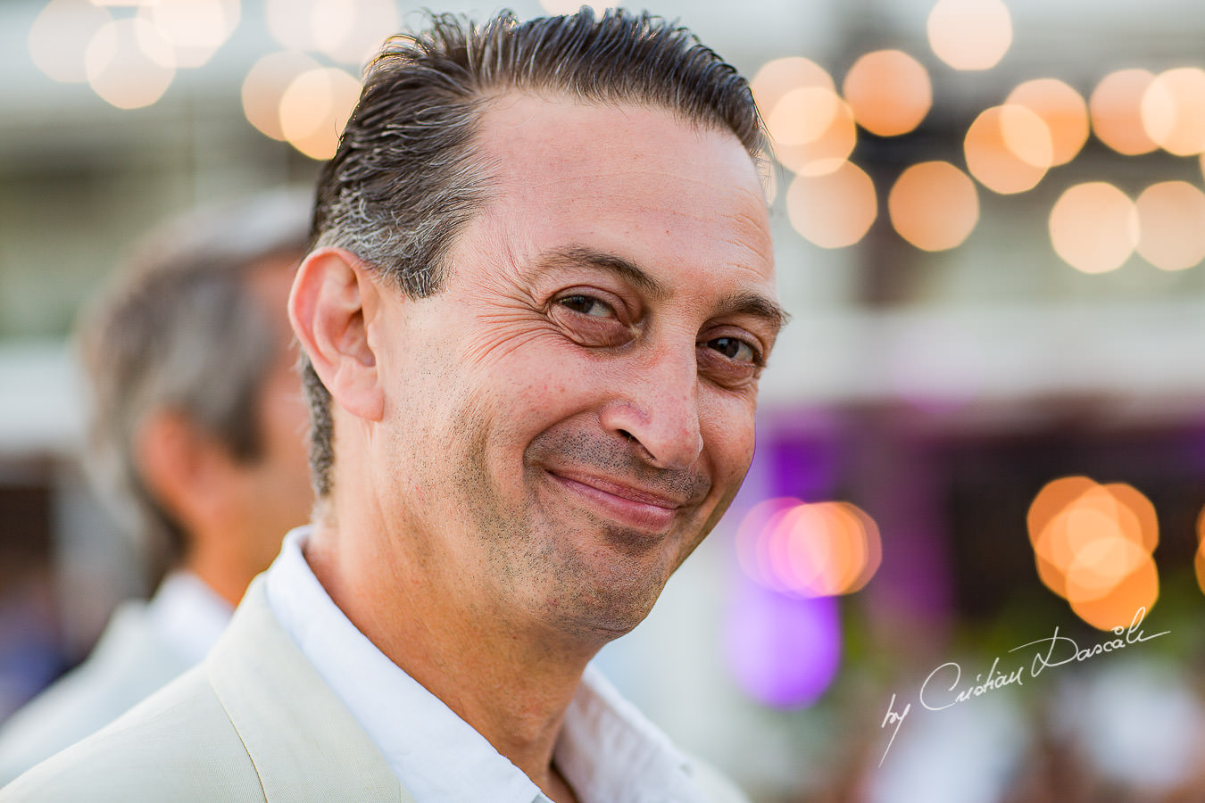 Portrait of the best man captured during a wedding photography at the Lighthouse Limassol, by Cyprus Photographer Cristian Dascalu.