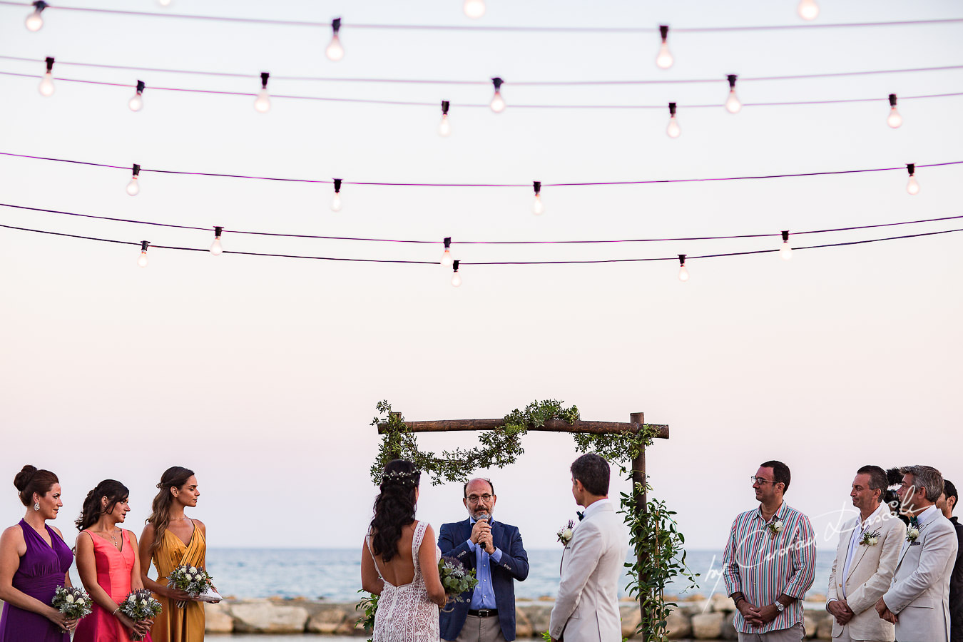 Wedding ceremony captured during a wedding photography at the Lighthouse Limassol, by Cyprus Photographer Cristian Dascalu.