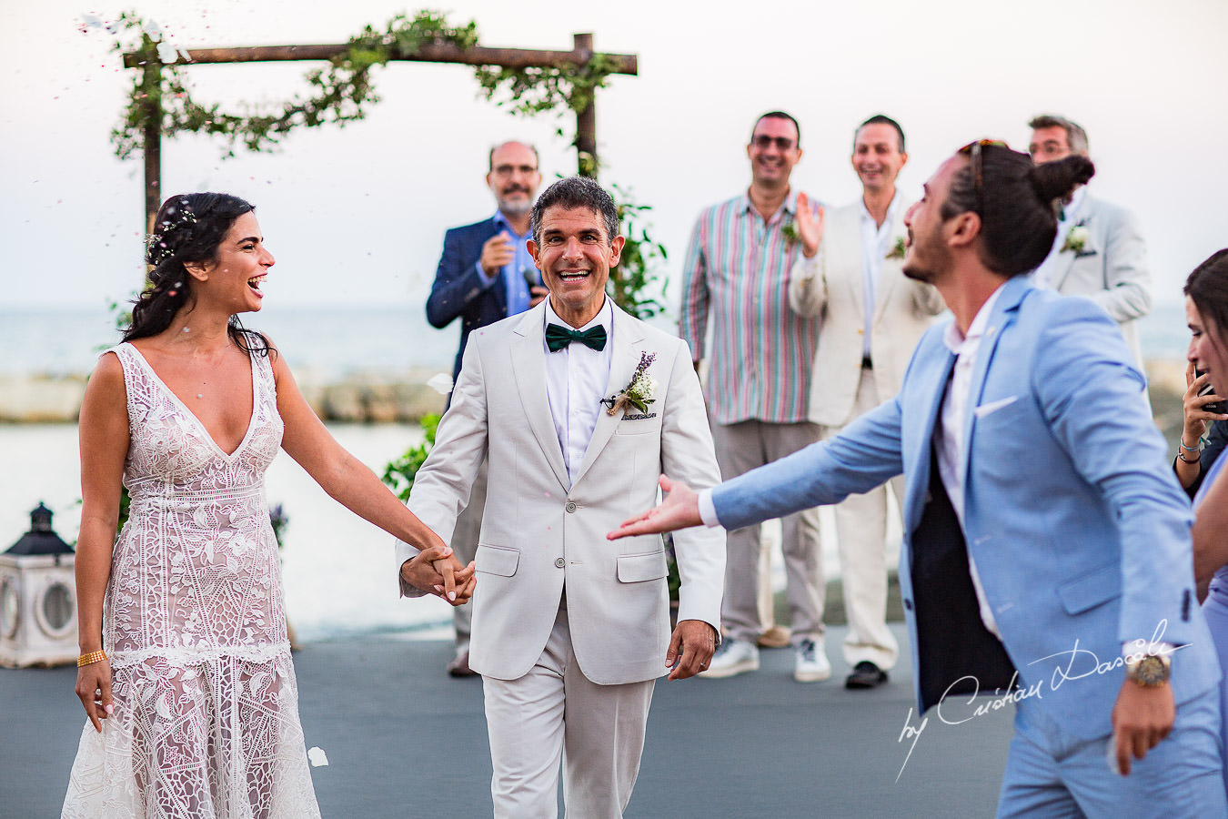 Moments with the bride and groom captured during a wedding photography at the Lighthouse Limassol, by Cyprus Photographer Cristian Dascalu.