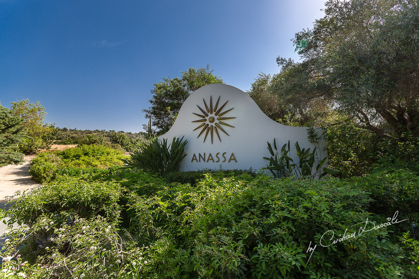 The entrance of the beautiful Anassa Hotel photographed by Cyprus Photographer Cristian Dascalu.