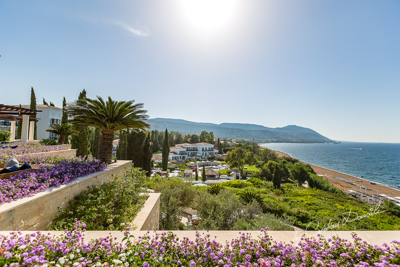 Breathtaking view at the beautiful Anassa Hotel photographed by Cyprus Photographer Cristian Dascalu.