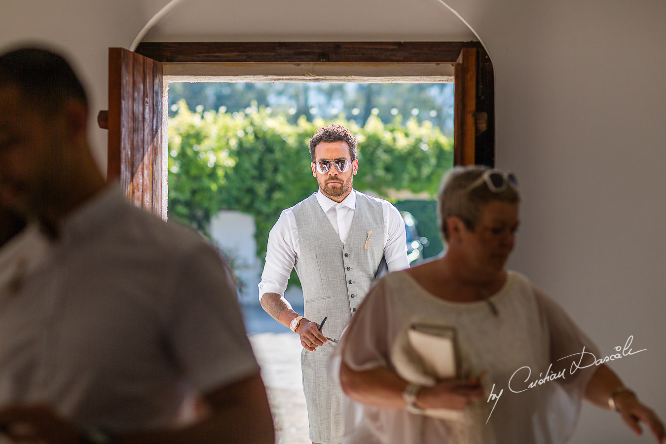 Guests arriving for a Christening the beautiful Anassa Hotel photographed by Cyprus Photographer Cristian Dascalu.