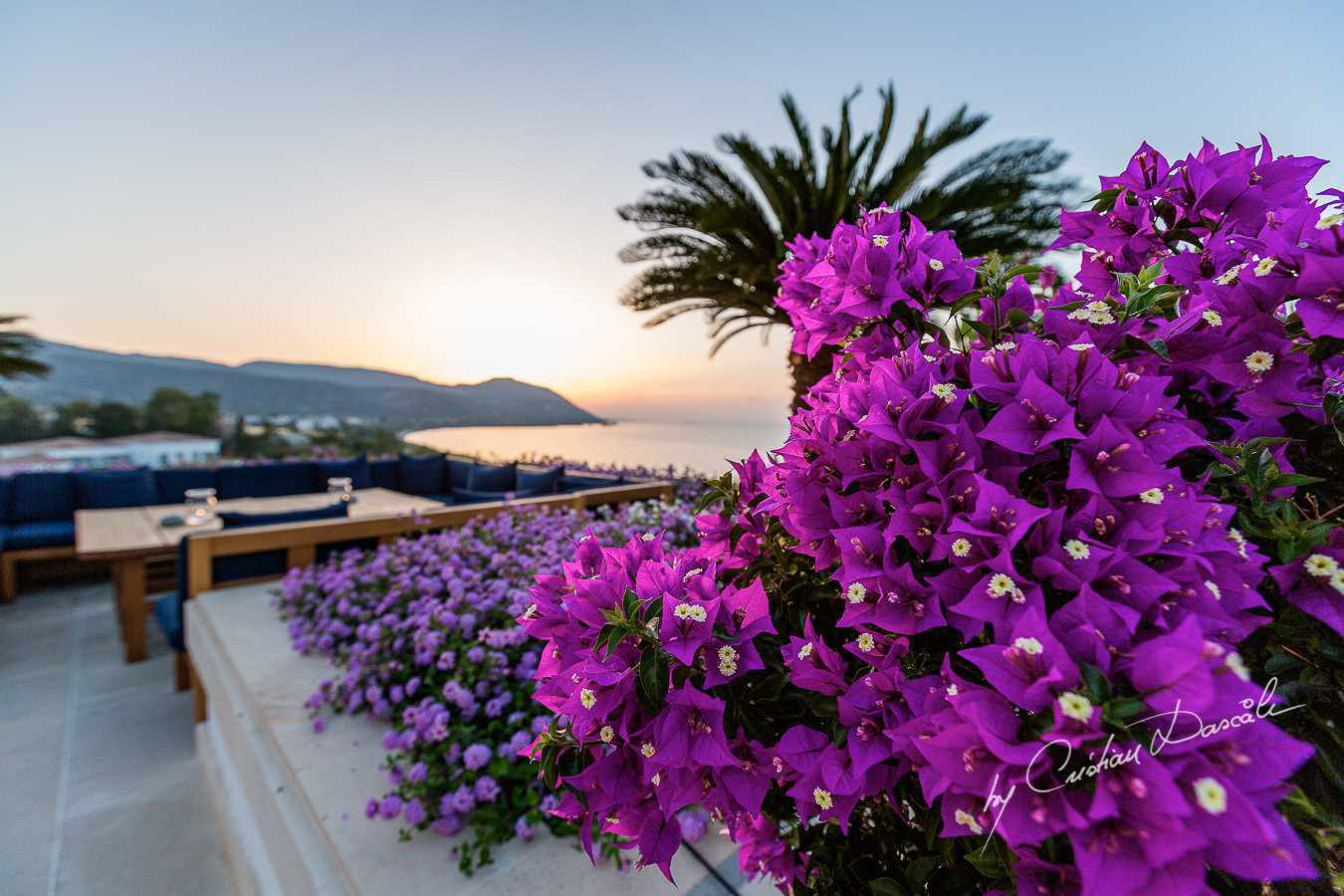 Breathtaking sunset view at the beautiful Anassa Hotel photographed by Cyprus Photographer Cristian Dascalu.