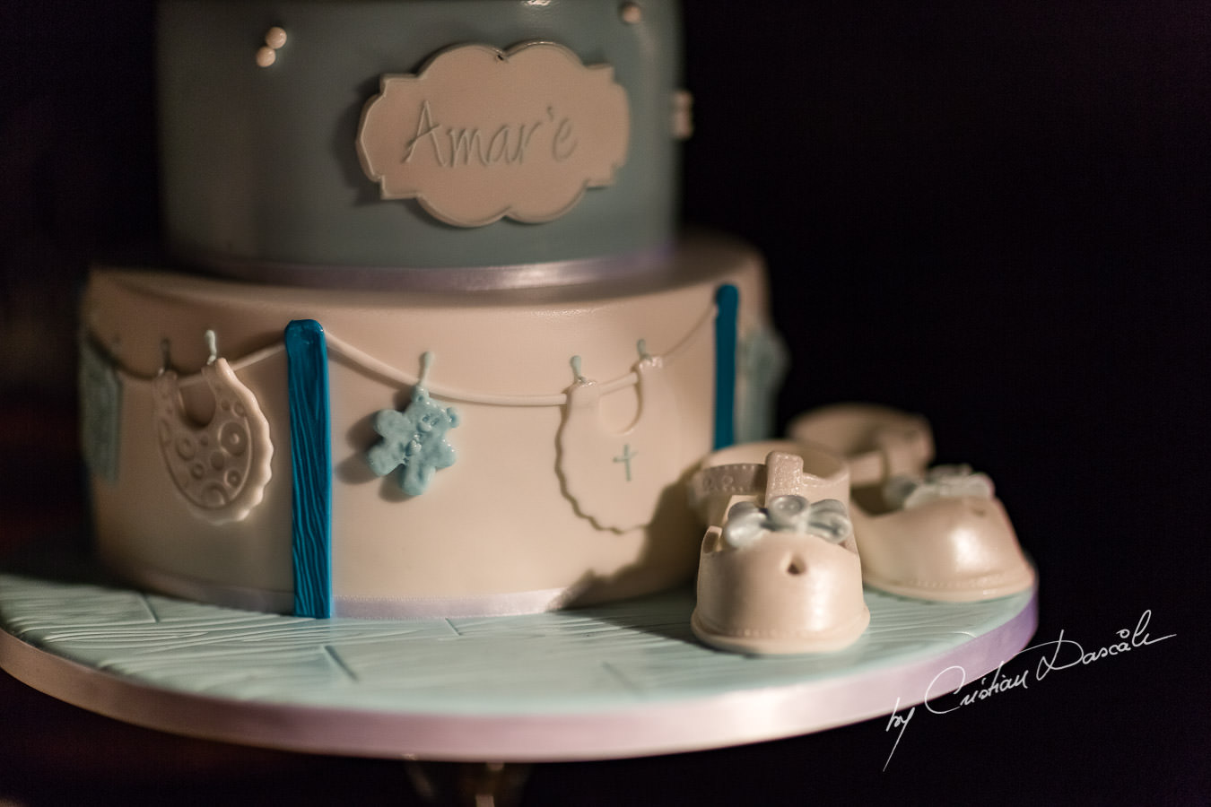 Amare's Christening cake at the beautiful Anassa Hotel photographed by Cyprus Photographer Cristian Dascalu.