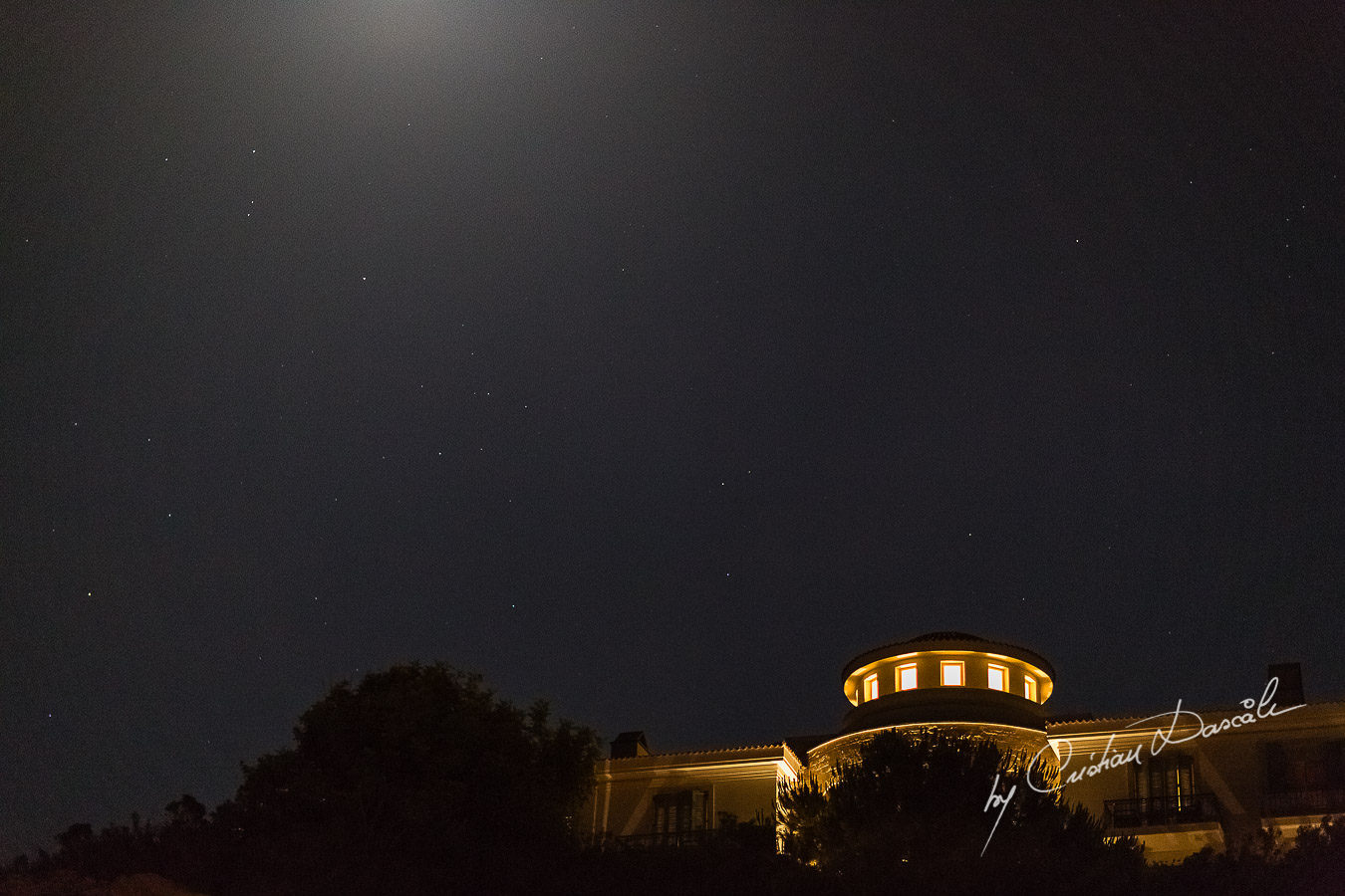 Stunning night photo at the beautiful Anassa Hotel photographed by Cyprus Photographer Cristian Dascalu.