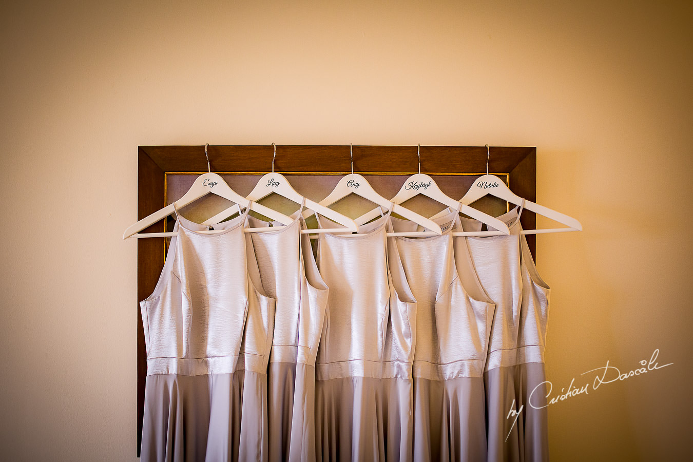 Bridal Party Gowns at a Beautiful Wedding at Elias Beach Hotel captured by Cyprus Photographer Cristian Dascalu.