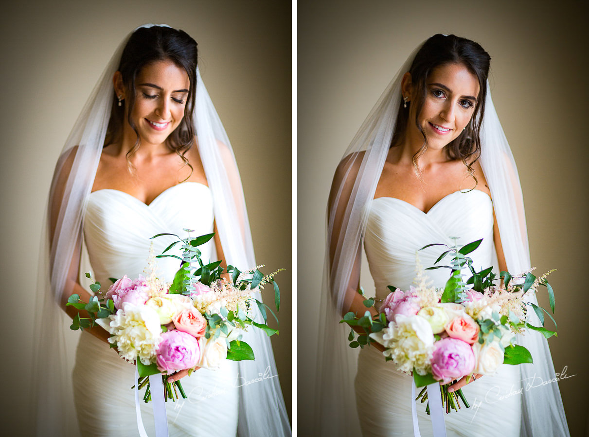 Bridal portraiture during a Beautiful Wedding at Elias Beach Hotel captured by Cyprus Photographer Cristian Dascalu.