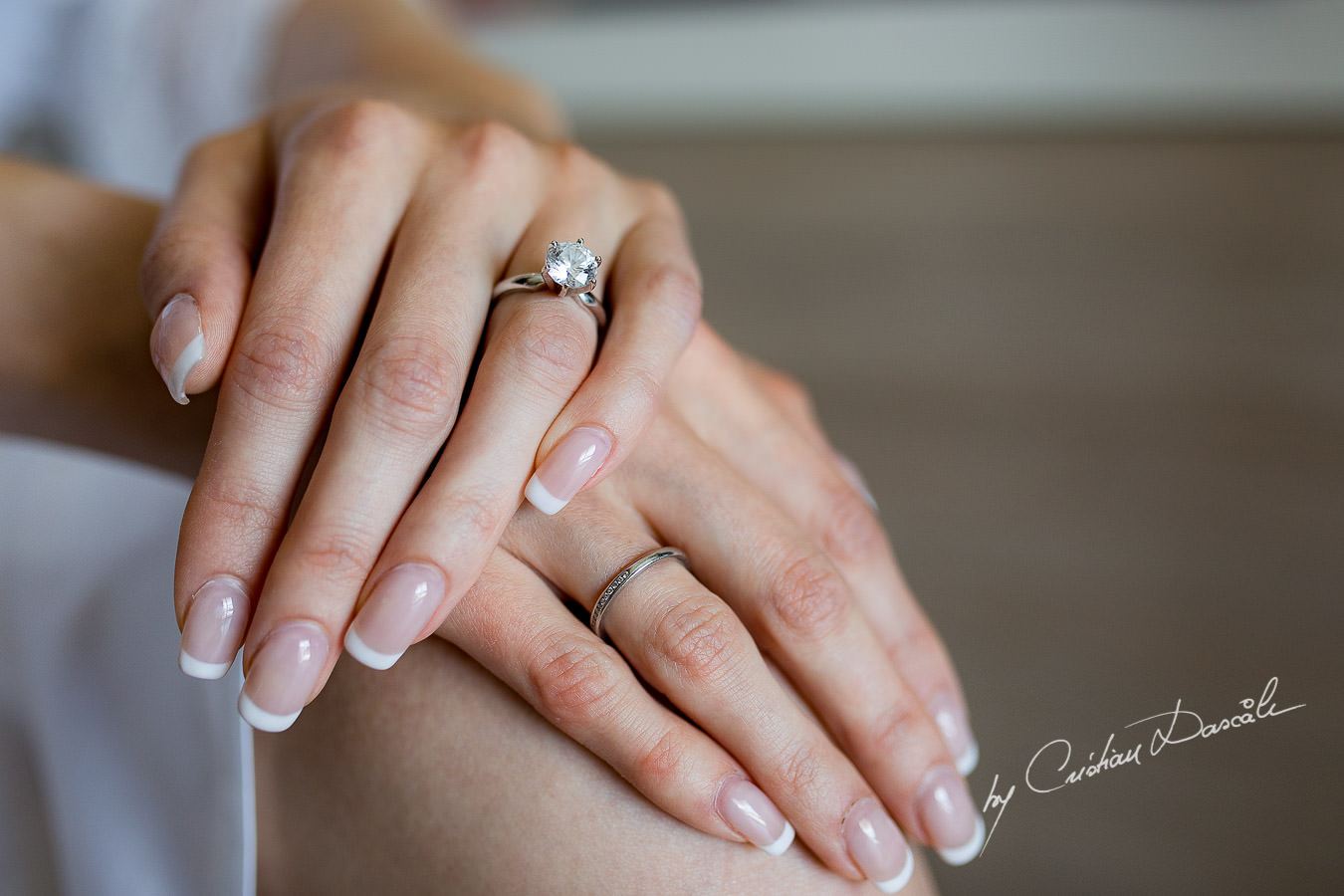 Wedding engagement ring captured during an Exquisite Wedding at Asterias Beach Hotel by Cyprus Photographer Cristian Dascalu.