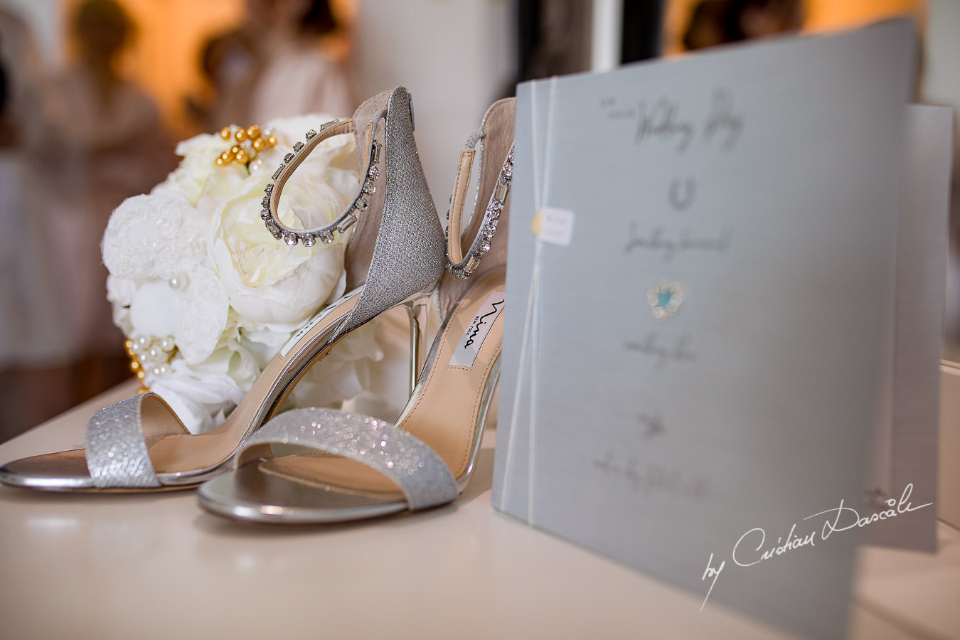 Brridal Wedding details captured during an Exquisite Wedding at Asterias Beach Hotel by Cyprus Photographer Cristian Dascalu.