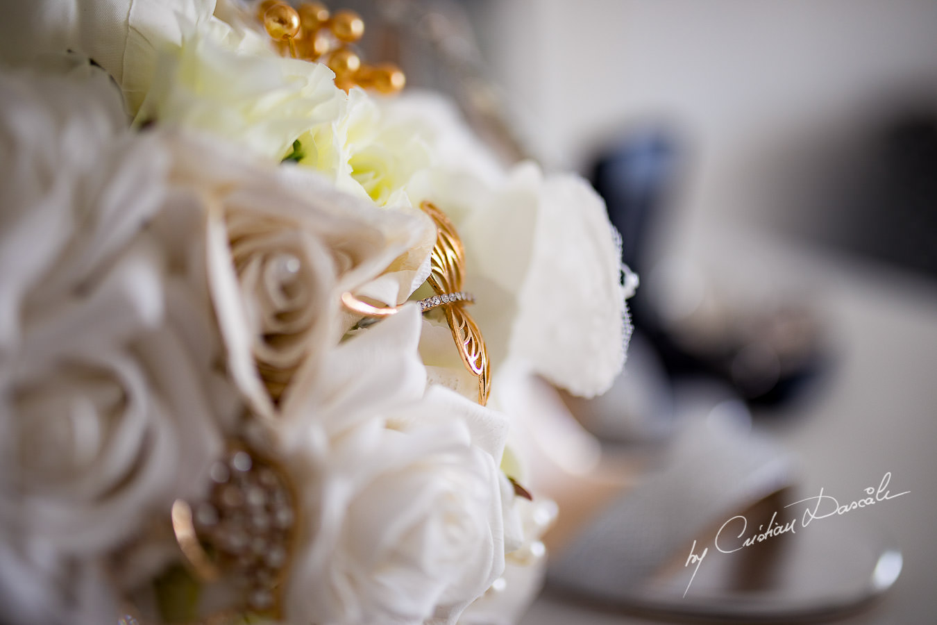 Bridal Bouquet captured during an Exquisite Wedding at Asterias Beach Hotel by Cyprus Photographer Cristian Dascalu.