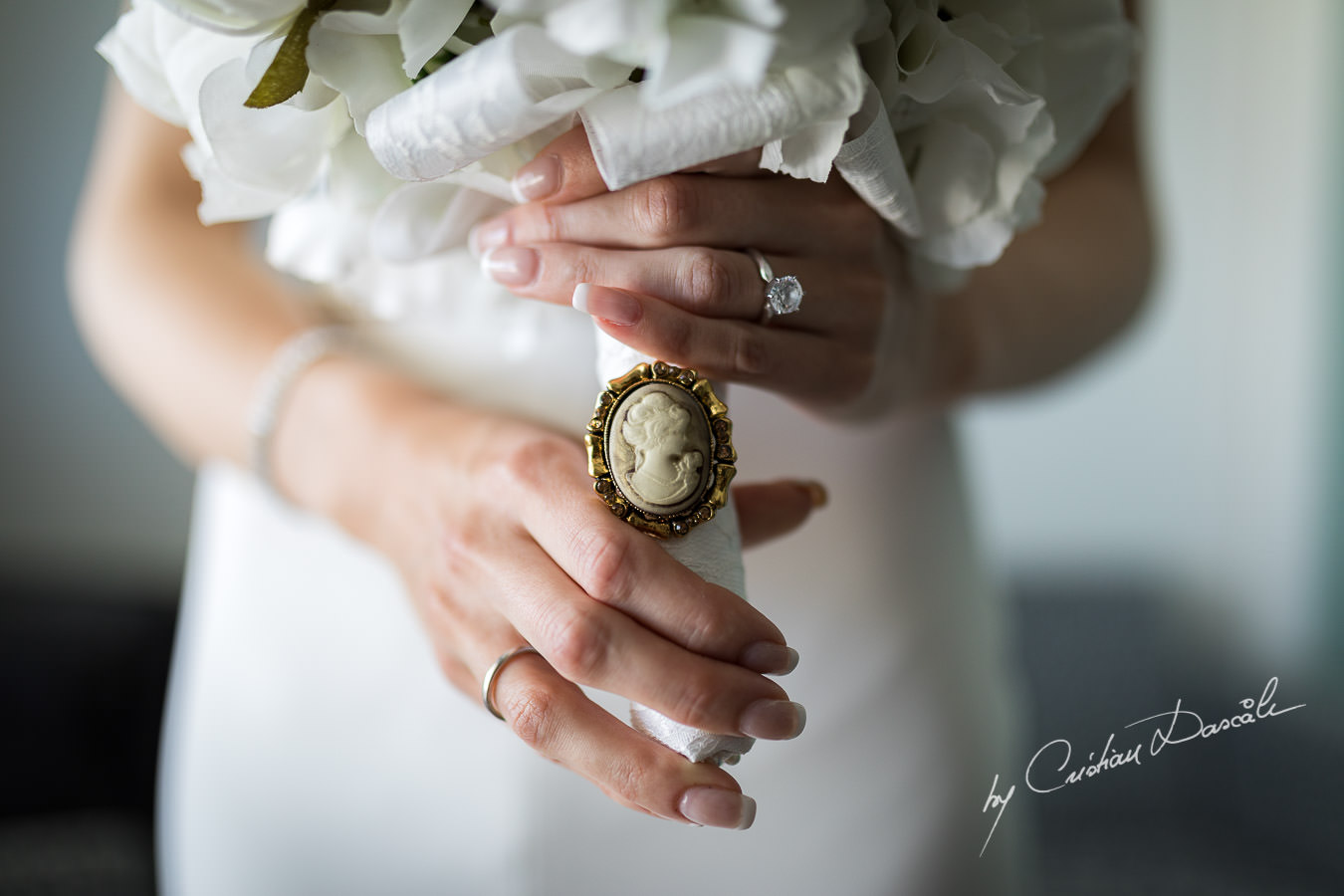 Bridal bouquet, moments captured during an Exquisite Wedding at Asterias Beach Hotel. Photography by Cyprus Photographer Cristian Dascalu.