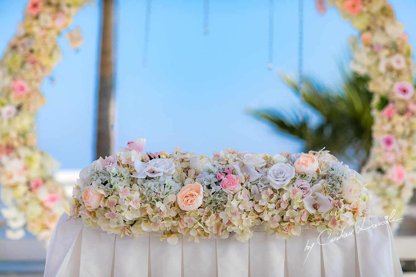Beautiful Paper Flowers decorations, moments captured during an Exquisite Wedding at Asterias Beach Hotel. Photography by Cyprus Photographer Cristian Dascalu.