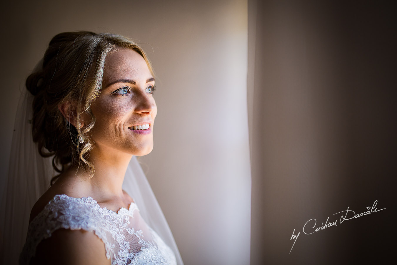 Bridal Portraiture captured at a Vasilias Nikoklis Inn Wedding in Paphos. Cyprus Wedding Photography by Cristian Dascalu.