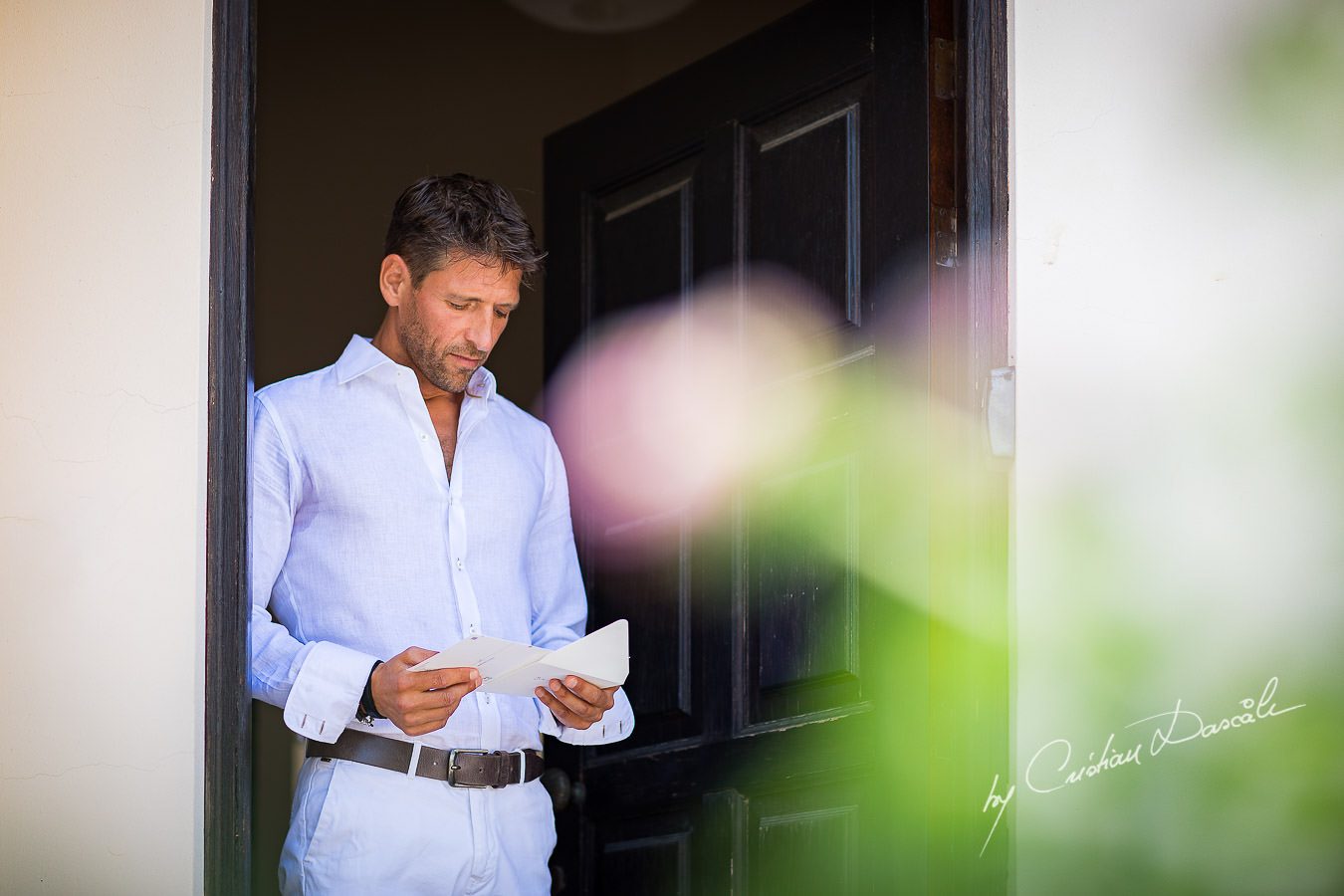 Moments with Jurian, the groom at Cap St. George captured during a beautiful wedding in Paphos by Cyprus Photographer Cristian Dascalu.