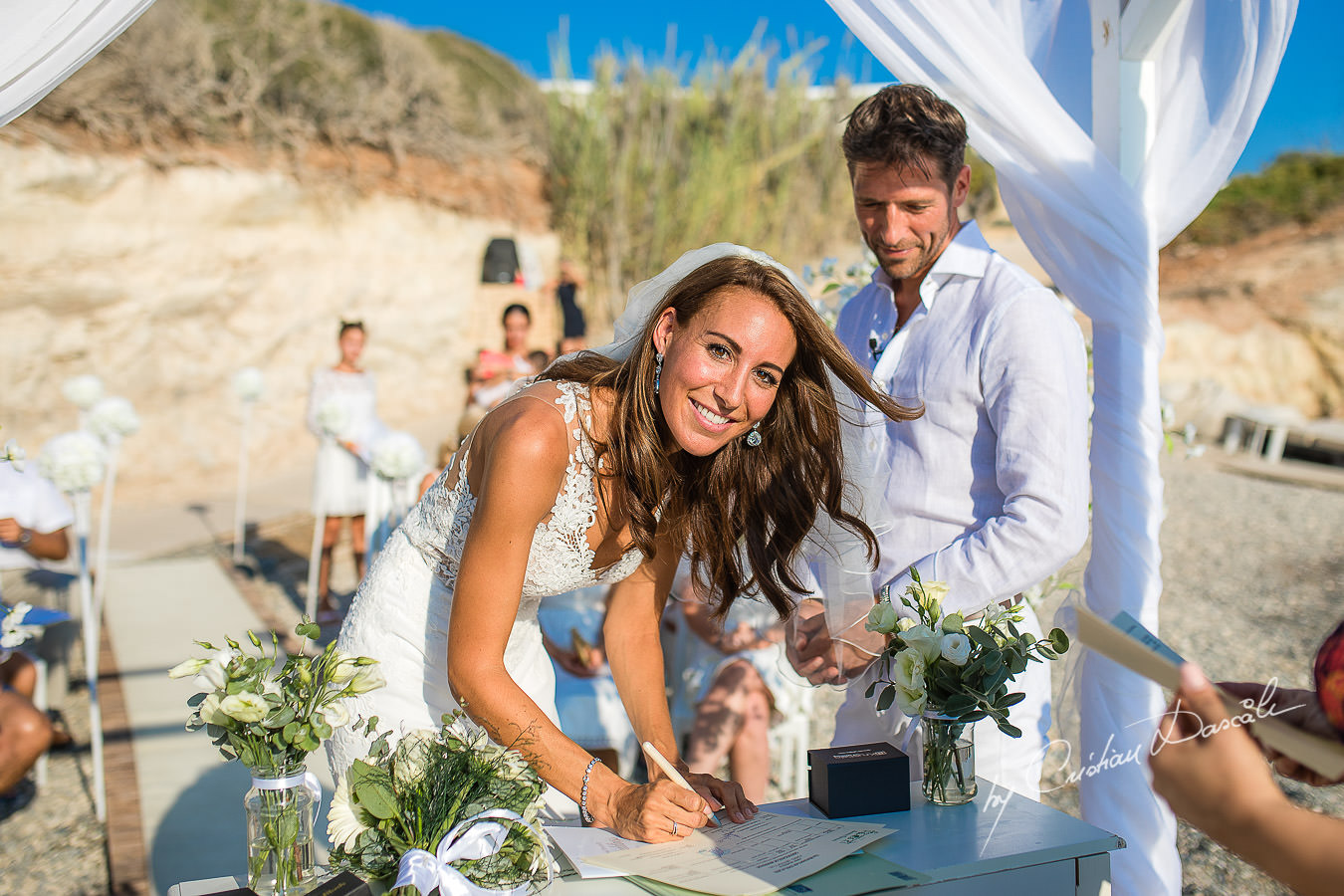 Wedding moments photographed by Cyprus Photographer Cristian Dascalu during a beautiful wedding at Cap St. George in Paphos.