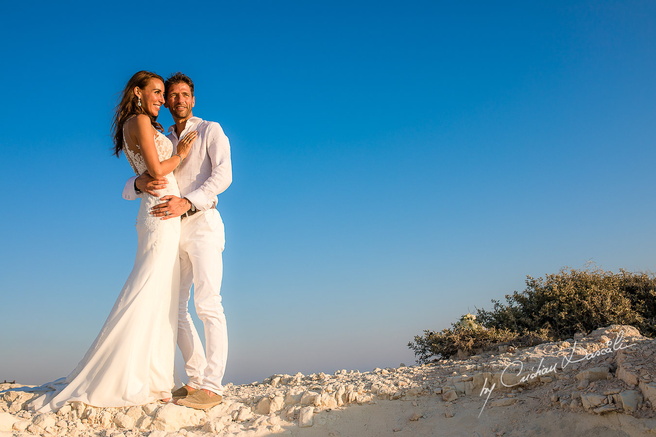 After wedding photoshoot captured by Cyprus Photographer Cristian Dascalu during a beautiful wedding at Cap St. George in Paphos.