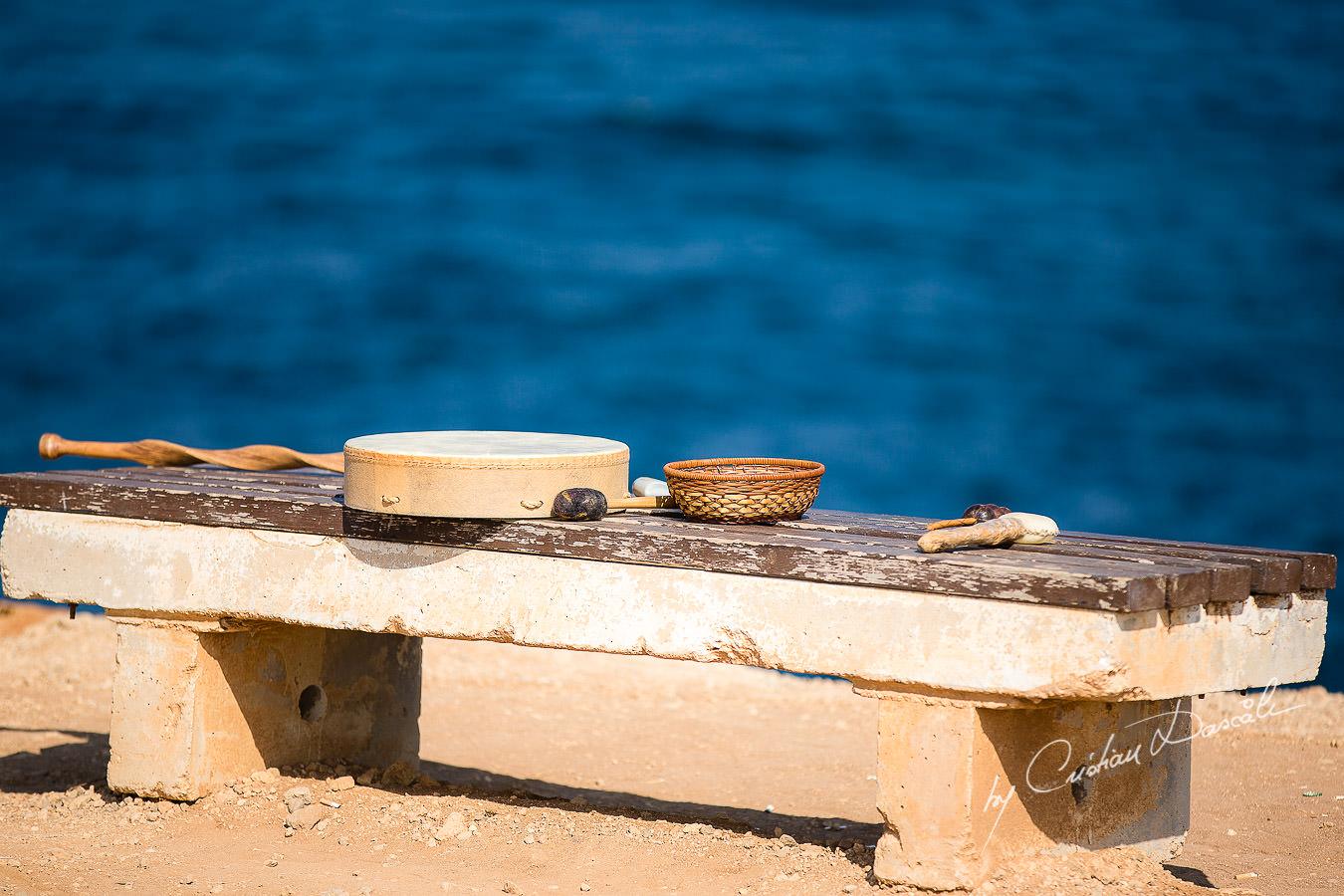 Shaman's tools captured at a Shamanic Wedding Ceremony by Cyprus Wedding Photographer Cristian Dascalu.