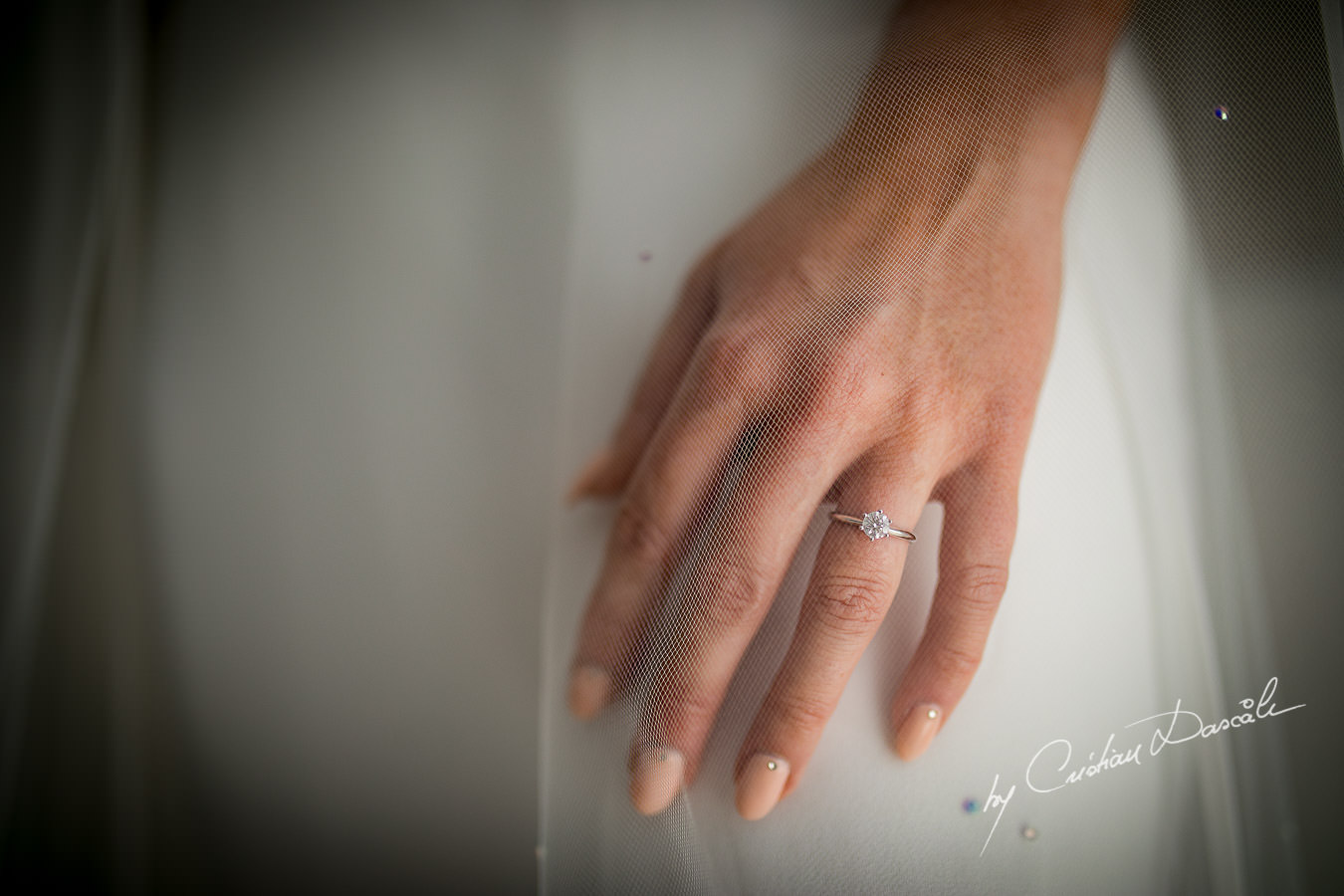 Engagement ring captured by Cristian Dascalu during an elegant Aphrodite Hills Wedding in Cyprus.