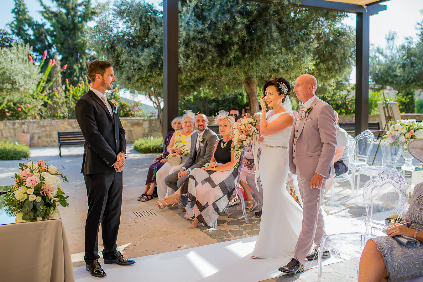 Emotional moments captured by Cristian Dascalu during an elegant Aphrodite Hills Wedding in Cyprus.