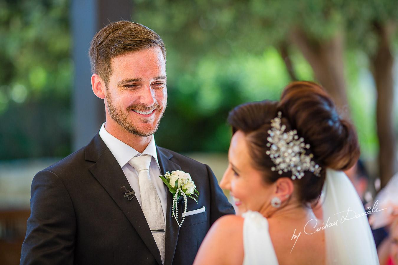 Beautiful wedding moments captured by Cristian Dascalu during an elegant Aphrodite Hills Wedding in Cyprus.