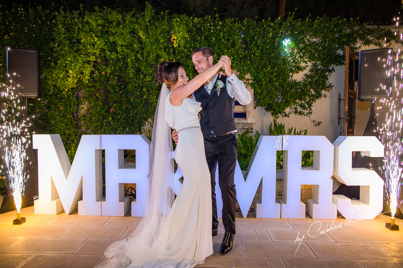 First dance moments captured by Cristian Dascalu during an elegant Aphrodite Hills Wedding in Cyprus.