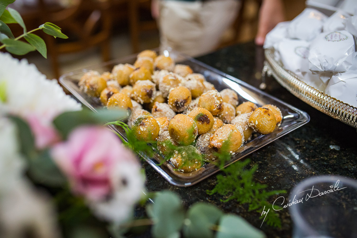 Traditional Cypriot Wedding sweets captured by Cyprus Wedding Photographer Cristian Dascalu at a beautiful wedding in Larnaka, Cyprus.
