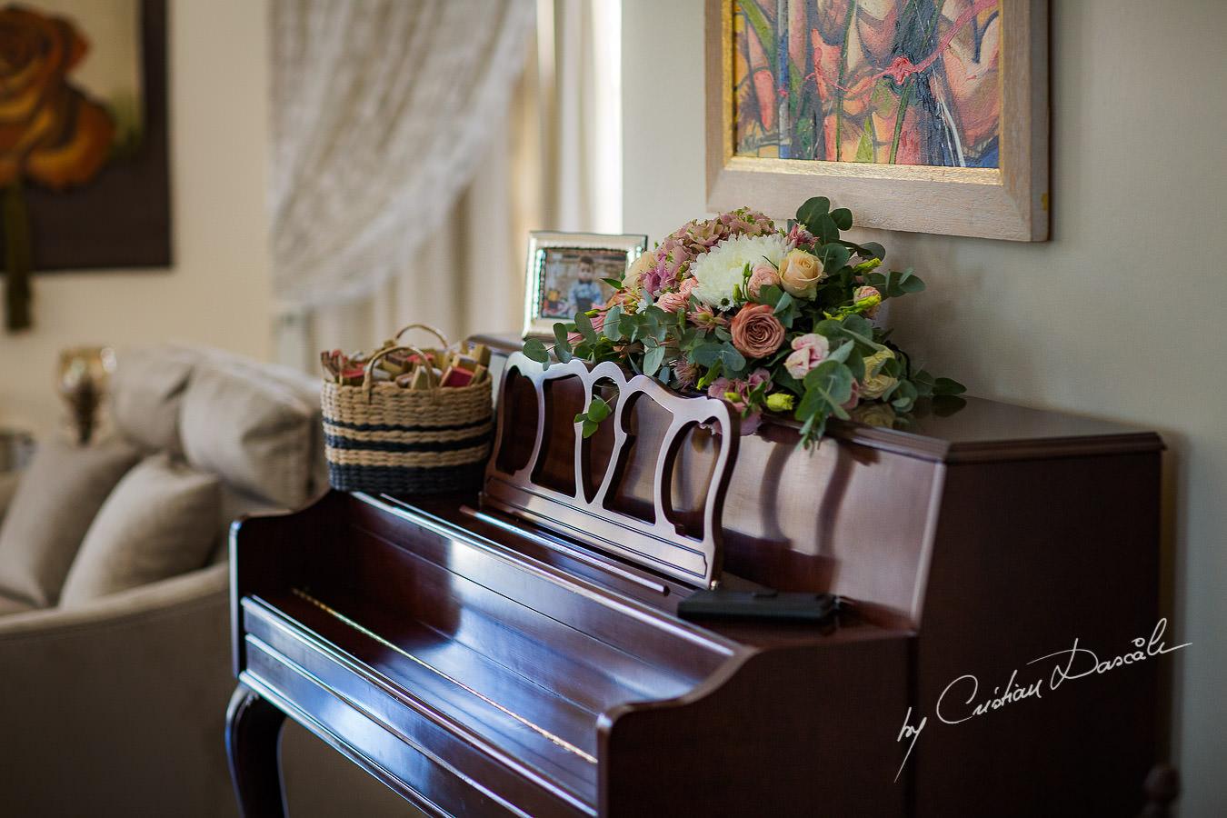 Wedding Flowers captured by Cyprus Wedding Photographer Cristian Dascalu at a beautiful wedding in Larnaka, Cyprus.