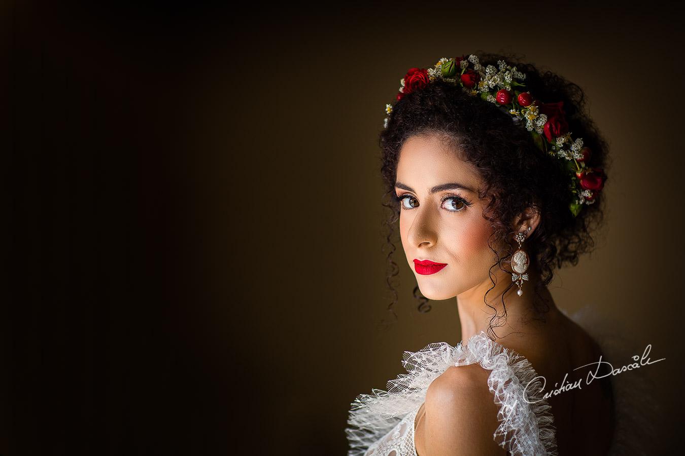 Bridal Portrait captured by Cyprus Wedding Photographer Cristian Dascalu at a beautiful wedding in Larnaka, Cyprus.