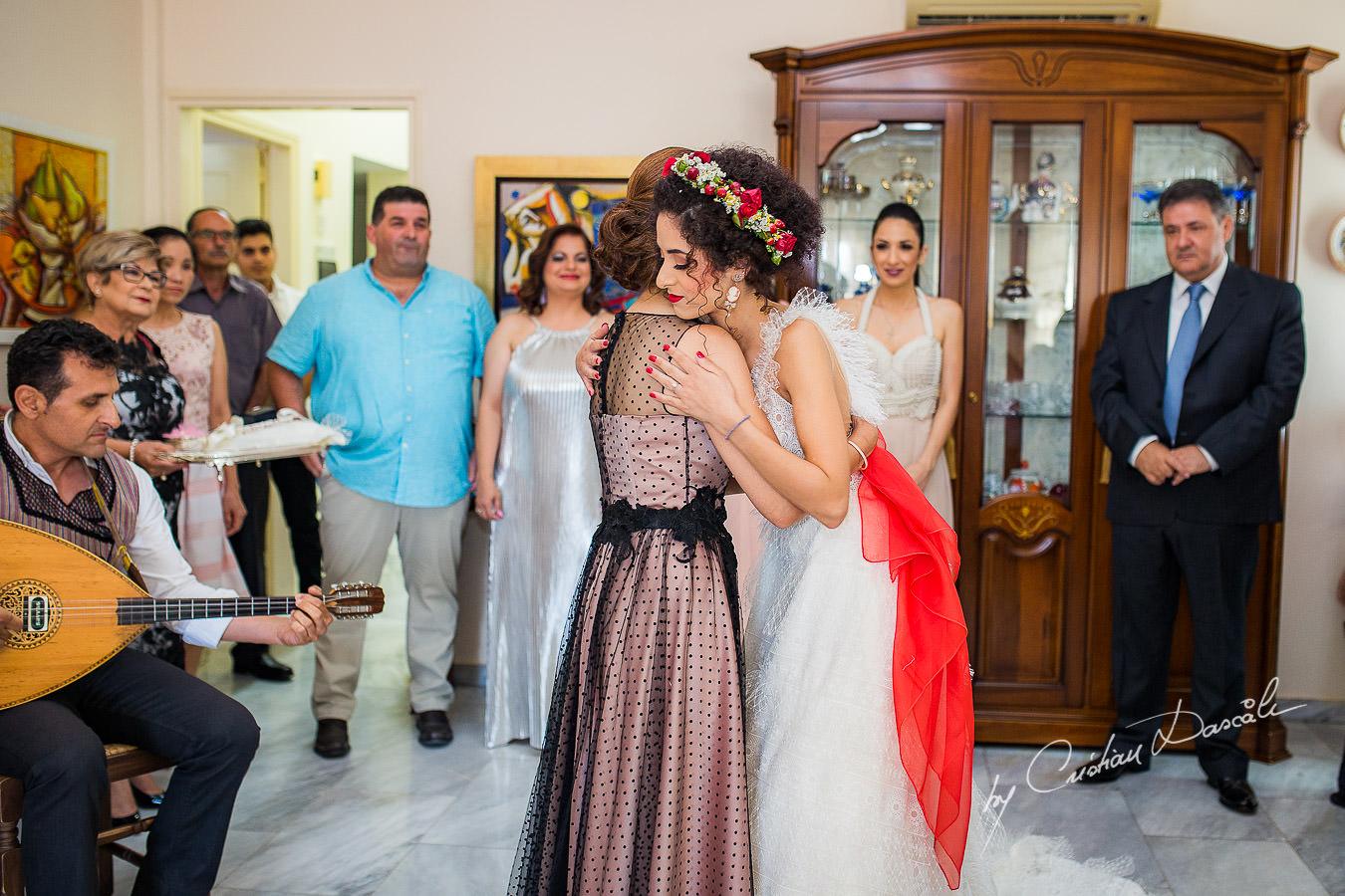 Bride and her mother, moments captured by Cyprus Wedding Photographer Cristian Dascalu at a beautiful wedding in Larnaka, Cyprus.