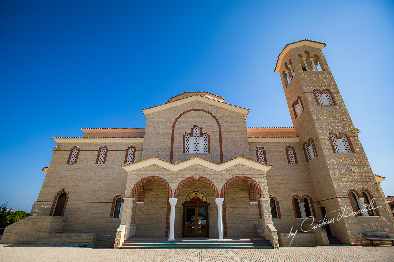 The church, moments captured by Cyprus Wedding Photographer Cristian Dascalu at a beautiful wedding in Larnaka, Cyprus.