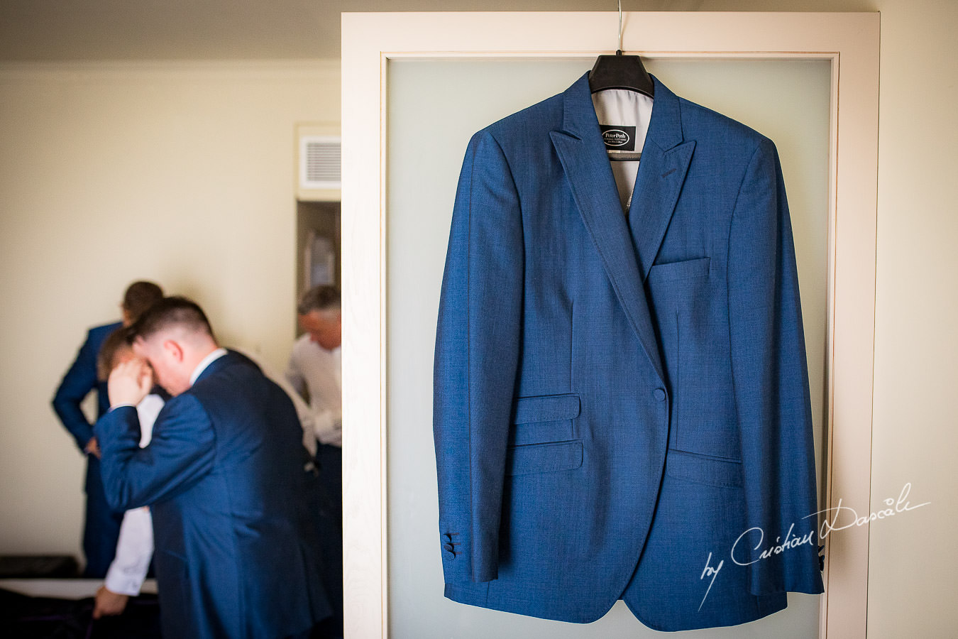 Groom`s suit captured during an Elegant Minthis Hills Wedding, in Paphos, Cyprus.
