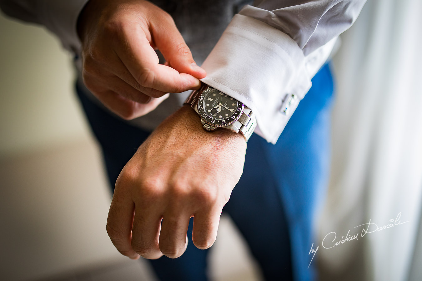 Groom`s watch captured during an Elegant Minthis Hills Wedding, in Paphos, Cyprus.