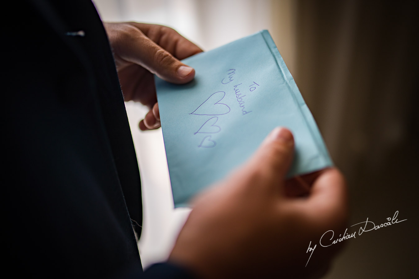 Bride`s letter for her husband to be, moment captured during an Elegant Minthis Hills Wedding, in Paphos, Cyprus.