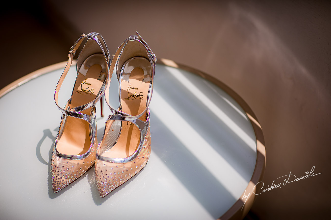Beautiful Wedding Christian Laboutin shoes, captured during an Elegant Minthis Hills Wedding, in Paphos, Cyprus.