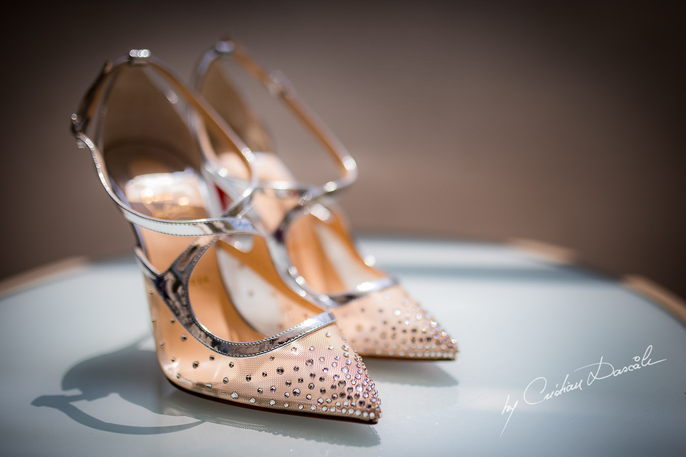 Stunning Christian Laboutin Wedding Shoes, captured during an Elegant Minthis Hills Wedding, in Paphos, Cyprus.