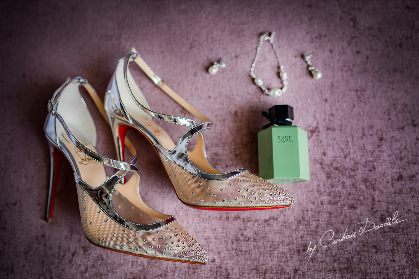 Wedding Shoes and Jewellery, captured during an Elegant Minthis Hills Wedding, in Paphos, Cyprus.