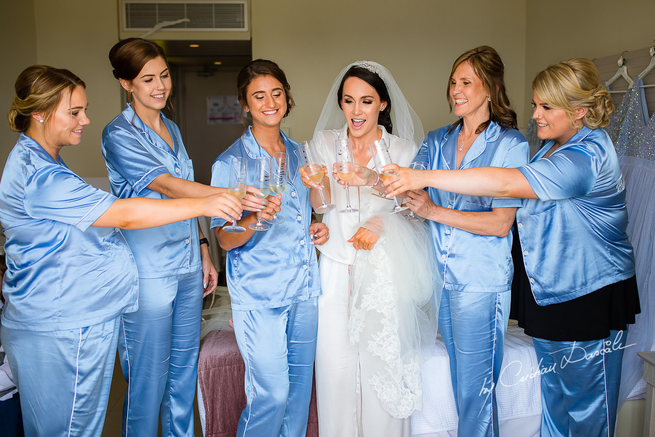 Bride and Bridal Party, moment captured during an Elegant Minthis Hills Wedding, in Paphos, Cyprus.