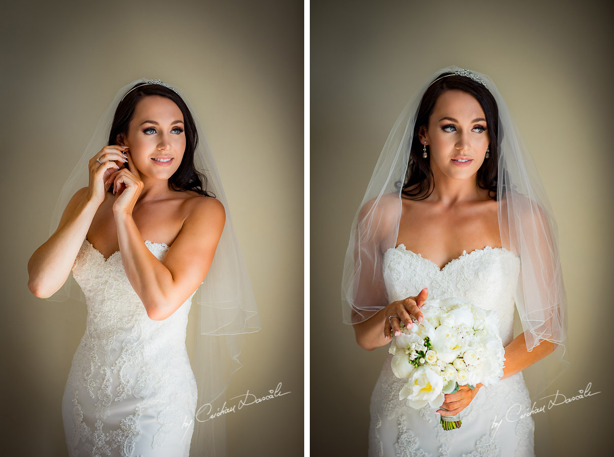 Beautiful portraits of Sara, the bride, moment captured during an Elegant Minthis Hills Wedding, in Paphos, Cyprus.
